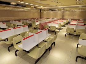 白云食堂餐桌隔离板